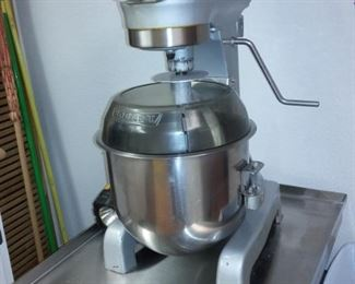 Professional Baker Hobart Mixer with Attachments and Stainless Steel Stand