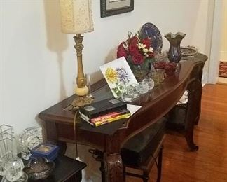 Glass Top Console/Sofa Table