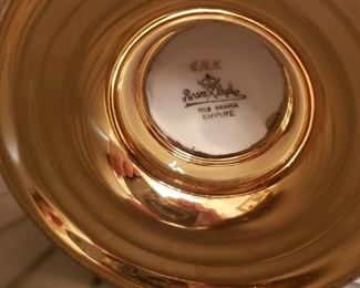 "German Rosenthal China with Gold Overlay Selb Bavaria ""Empire"" Signed CMK"