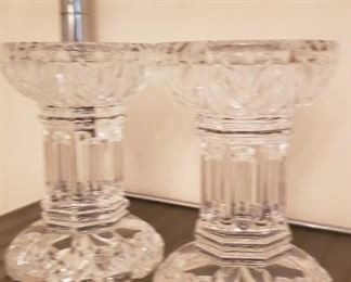 Waterford Pillar Candle Holders