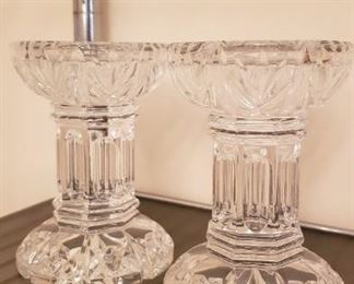 Waterford Crystal Pillar Candle Holders