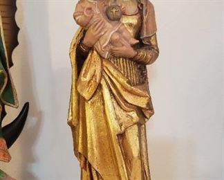 Carved Mary and Jesus