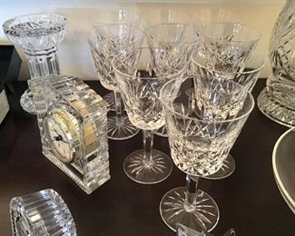 9 Waterford Claret Wine Glasses