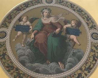 Theses Chromolithographs are replica's from the Segnatura ceiling, Raphael's rooms, Vatican Museums. They are dated 1873 & 1883 from the ARUNDEL SOCIETY