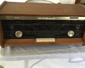 Phillips B5x23A stereo 10 tube radio model $165 manufactured and purchased in Belgium