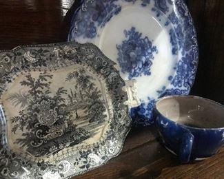 Black and White Platter, Flo Blue Platter