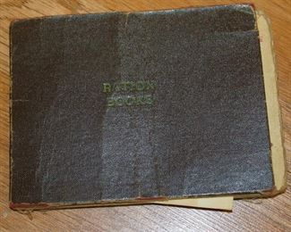 Ration Book with Ration Stamps