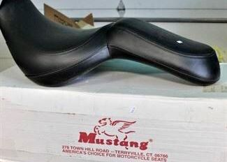Kawasaki one piece Mustang motorcycle seat.  Never been used.  Nice