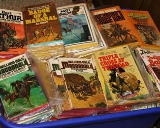Lots of western books both paper and hard cover