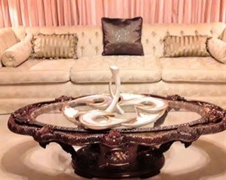 """Hollywood Regency"" style Coffee Table"