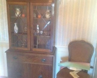 Vintage cabinet and chair