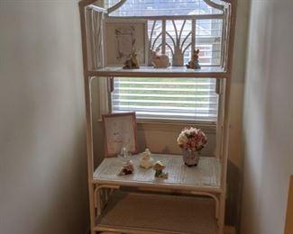 Wooden and Wicker Shelf