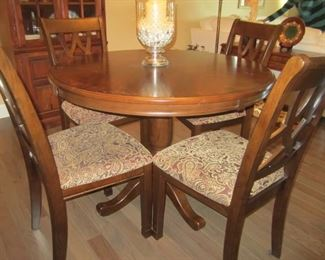 VERY NICE TABLE AND 4 CHAIRS