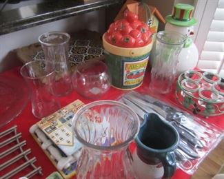 VASES AND KITCHEN ITEMS