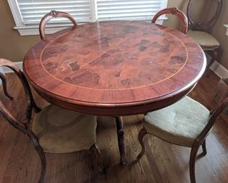 French Inlaid Dining Table