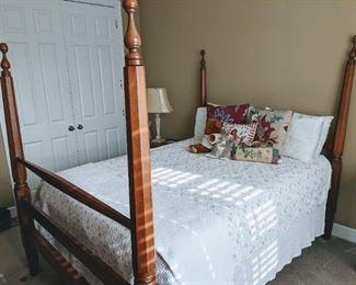 Antique Walnut Poster Bed