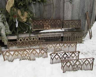 Early 1860s Gothic cast iron architectural window grates