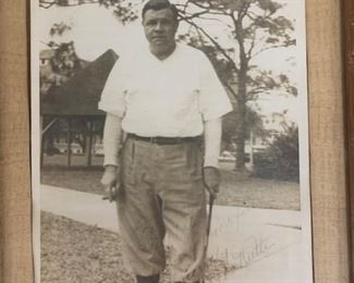 Babe Ruth Autograph photo.  It is  original