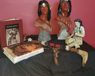 Indian statues/ indian books