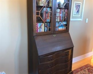 Antique beautiful solid wood buffet/secretary station.