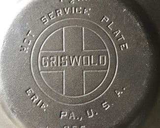GRISWOLD Hot service plate
