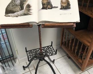 Antique dictionary stand