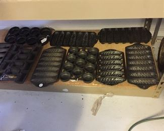 A few of the many Griswold muffin pans available