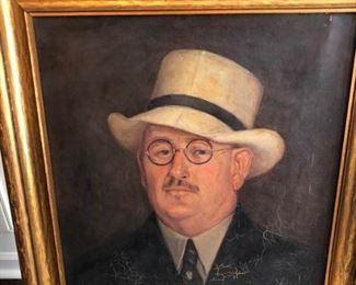 The Gentleman Original Painting Unsigned https://ctbids.com/#!/description/share/307400