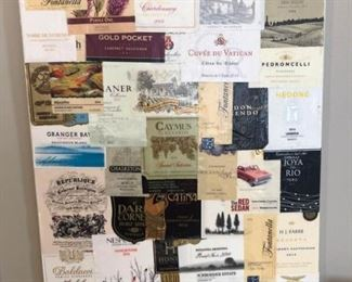 Wine Label Canvas Art Set of 2 Wall Hangings https://ctbids.com/#!/description/share/307399