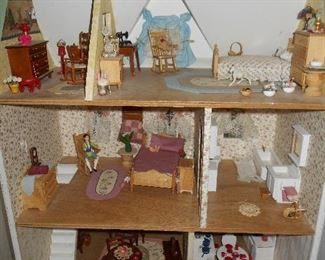 Hand crafted doll house...