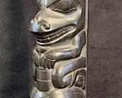 005 Haida Argillite Totem 1920s