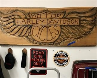 4ft Harley Davidson Sign and other collectibles