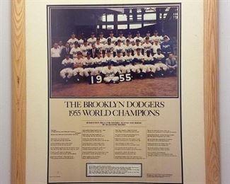 Brooklyn Dodgers 1955 commemorative poster