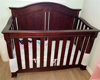 Mahogany finish baby crib. Just gorgeous! $150