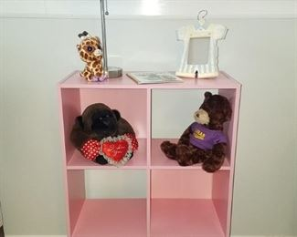 Pink cubby.