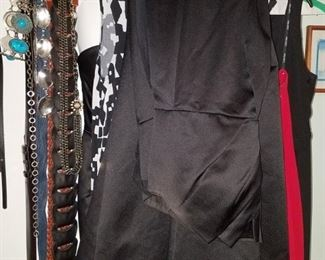 Women's designer gowns and belts