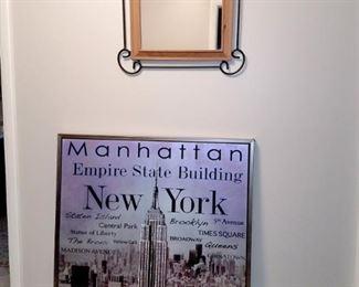 Mirror and New York skyline art