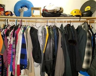 Men's and women's clothing and jackets.