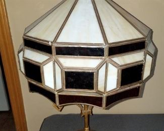 Stained glass/slag glass lamp