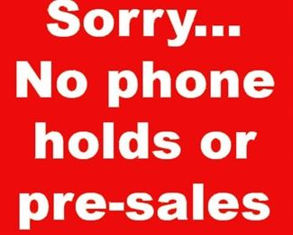 No phone holds presales