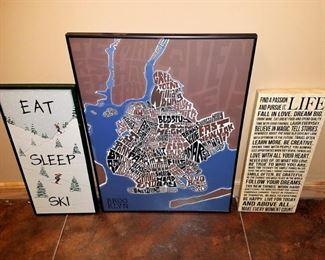 Framed art. Brooklyn...
