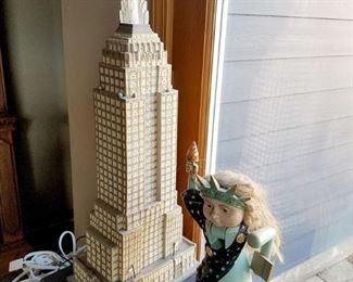 Dept. 56 Empire State Building. Vintage BRN Lady Liberty Nutcracker