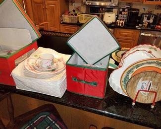 Christmas dinner plate set