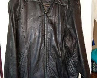 Men's XL tall leather jacket