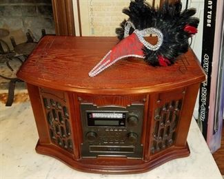 But this one was added. CD/radio/turntable