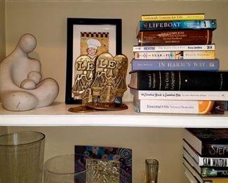 Solid Brass LEX Bookends, books...