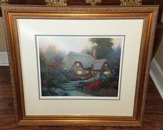 Thomas Kinkade framed art
