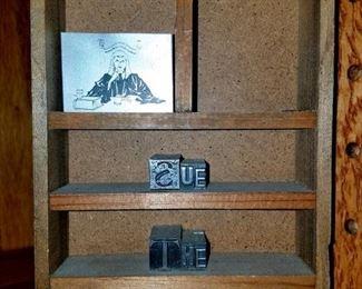 Vintage stamp/printer blocks