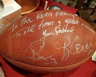 Autographed football (no COA)