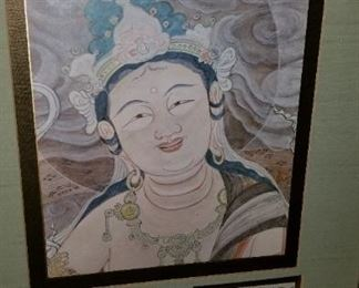 Smiling Buddah Nicely Framed